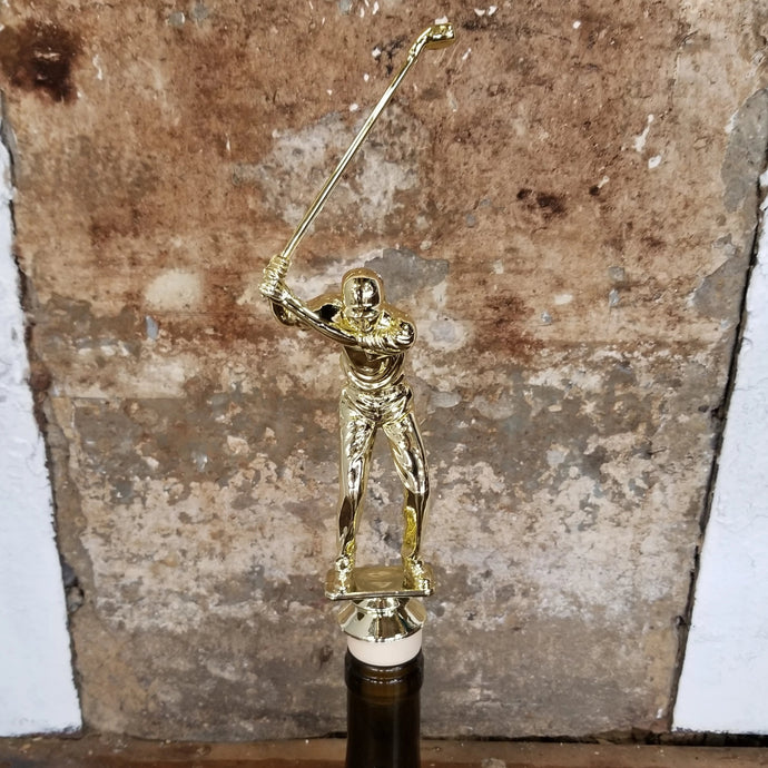 Male Golfer Trophy Wine Stopper