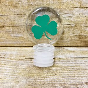 Shamrock Acrylic Wine Stopper - Green