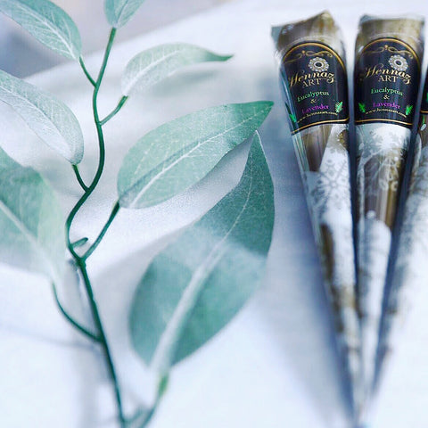 2 Henna Cones Eucalyptus and Lavender