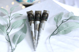 3 Henna Cones Eucalyptus and Lavender