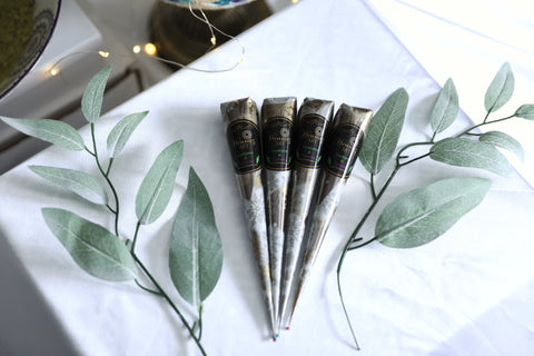 4 Henna Cones Eucalyptus and Lavender