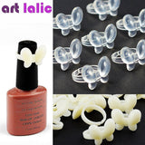 Artlalic 50 Pcs New Butterfly Fake Nail Polish Display Clear/ Natural Color Chart Practice False Nail Art Tools