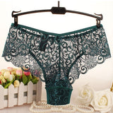 DeRuiLaDy Fashion Sexy Panties Comfortable Briefs Exquisite Crotchless Shorts Solid Lingerie Sexy Hollow Out Underwear Women - Merla's Vault
