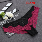 1PC Soft Breathable Sexy Women Panty Low-Rise Knickers Hollow Briefs Ultra Thin Underwear Lace Panties Lady Summer G-string - Candid Lady