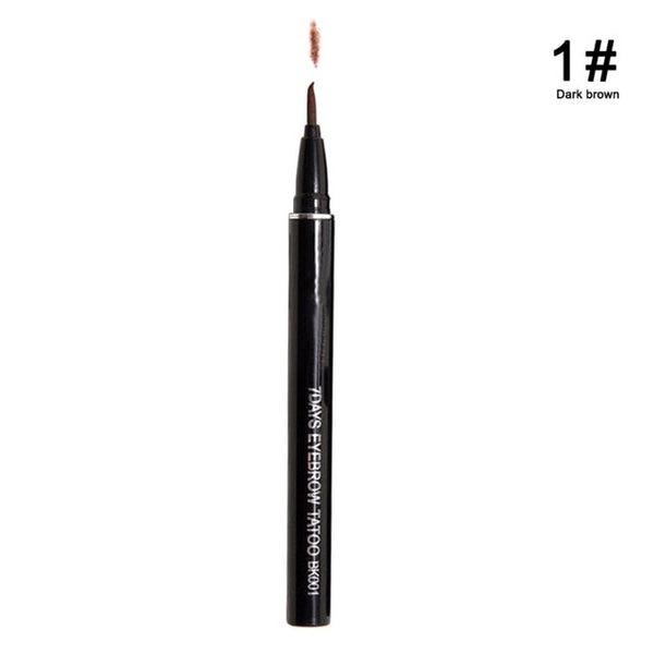 Women Professional Natural Makeup Waterproof Brown Eyebrow Tattoo Pen Liner Long Lasting Cosmetic
