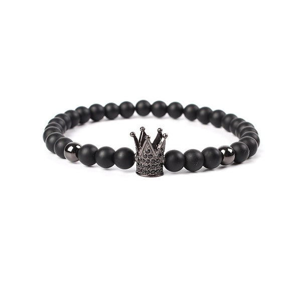 MKENDN Hot Sale Trendy Imperial Crown Charm Bracelets Men Natural Stone Stone Beads For Women Men Jewelry pulsera hombres - Merla's Vault