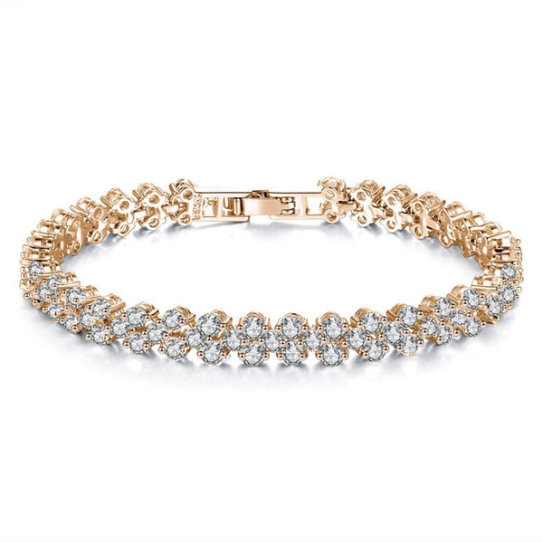 Shellhard Luxury Crystal Bracelet Fashion Sparkling Zircon Rhinestone Bangle & Bracelets For Women Femme Charm Jewelry Gift