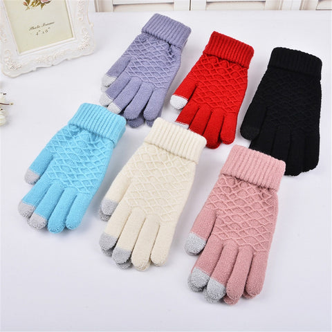 1 Pair Handmade Knitted Winter Gloves Women Men Multi-Function Touch Screen Gloves Unisex Soft Warm Mitten For Smartphones Luvas - Candid Lady