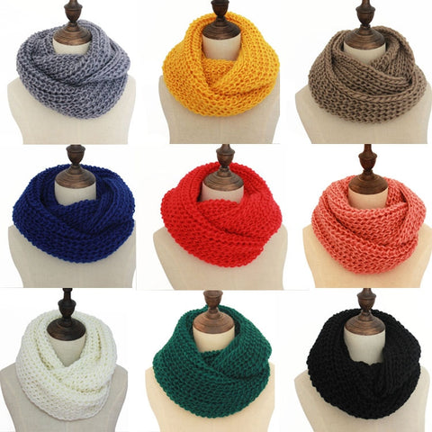 18 colors warm winter scarf scarves knitted women fashion neck wool cashmere scarves Pashmina Scarf - Candid Lady