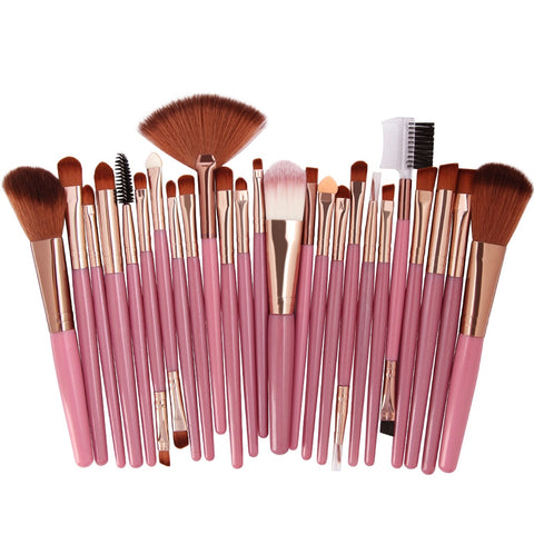 2018 Popular 25pcs Makeup Brushes Set Beauty Foundation Power Blush Eye Shadow Brow Lash Fan Lip Face Make Up Brushes 11.11 - Candid Lady