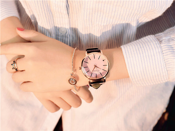 Minimalism Casual Women Watches Simple Stylish White Quartz Wristwatch for Lady Luxury Business Dress Watch Woman Business - Merla's Vault