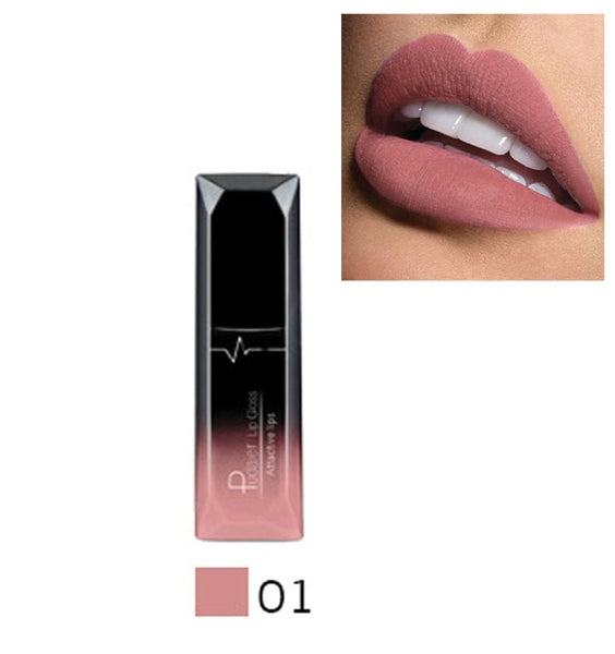 Pudaier 21 Color Waterproof Velvet Liquid Lipstick Sexy Red Lip Balm Makeup Long Lasting Matte Nude Glossy Metal Color Lip Gloss