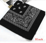 1PC Unisex Hip Hop Black Paisley Bandana Headwear Hair Band Scarf Neck Wrist Wrap Band Headtie Square scarf High quality - Candid Lady