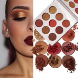 9Colors Eye Shadow Palette Natural Shimmer Matte Eyeshadow Powder Brand Professional Eyes Makeup Pallete Maquiagem - Candid Lady