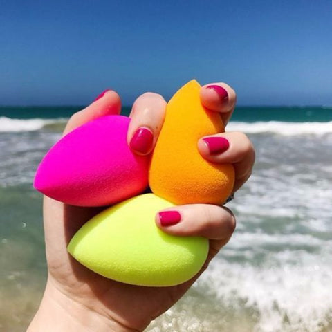 1 Pcs Water Drop Shape Cosmetic Puff Makeup Sponge Blender Face Flawless Foundation Cream Blending Cosmetic Powder Puff - Candid Lady