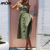 Aproms 27Patterns Print Midi Dress Plus Size Casual V Neck Slim Boho Dress Women Vestido High Wasit Summer Dress Sundresses 2018 - Candid Lady