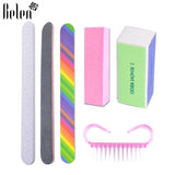 Belen Set For Nail Manicure Kit Nail Files Brush Durable Buffing Grit Sand Fing Art Accessories Sanding File UV Gel Polish Tools