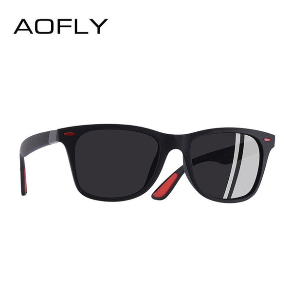 AOFLY BRAND DESIGN Classic Polarized Sunglasses Men Women Driving Square Frame Sun Glasses Male Goggle UV400 Gafas De Sol AF8083 - Candid Lady