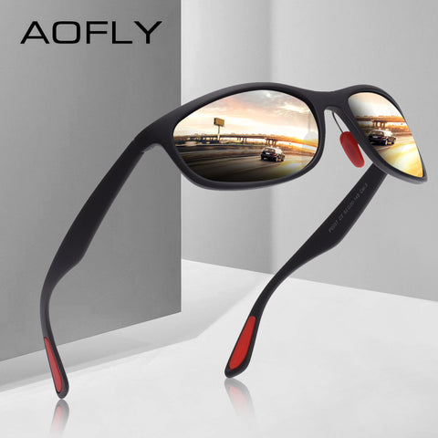 AOFLY BRAND DESIGN Polarized Sunglasses Men Women Driving Male Sun Glasses Fishing Sport Style Eyewear Oculos Gafas AF8104 - Candid Lady