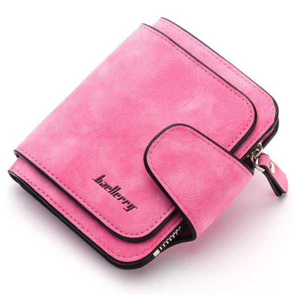 Baellerry New Lady's Wallet 2018 Luxury Brand Wallet Women Scrub Leather Female Wallets Purse for Coins Carteira Feminina Bolsa - Merla's Vault