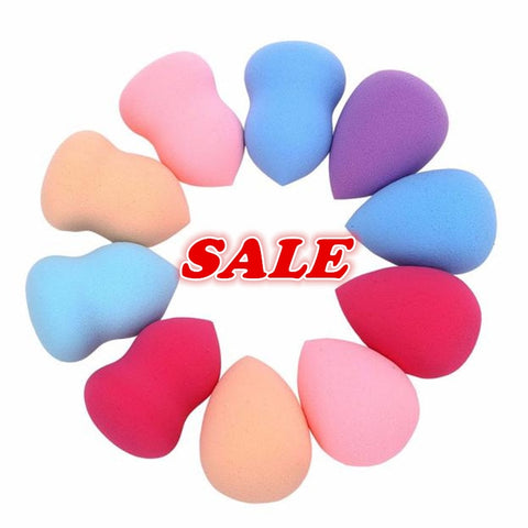 MAANGE Hot 10pcs Professional Beauty Foundation Puff Multi Shape Makeup sponge Cosmetics Maquiagem Colorful High elastic charm