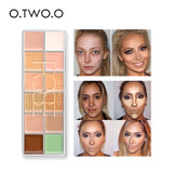 O.TWO.O  Concealer Cream Primer Paleta De Corretivo Profissional 12 Colors Cosmetic Camouflage Concealer Palette Face Makeup