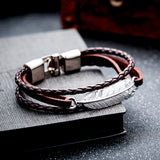 AZIZ BEKKAOUI Fashion Gift Jewelry for Women Men Love Leather Jewelry Promise Bands Valentine's Day Summer Jewelry - Merla's Vault