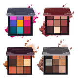 9 Colors  4 Seasons Eye Shadow Long-lasting Waterproof Palette Matte Shimmer Glitter Shadow Of Eye Shadow Palette Blush Makeup - Candid Lady