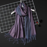 2018 winter women scarf fashion solid soft cashmere scarves for ladies pashmina shawls and wraps bandana female foulard Tassel - Candid Lady