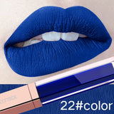 24 Color Make Up Liquid Lipstick Waterproof Mate Red Lip Long Lasting Ultra Matte Lip Gloss Black Blue Nude Lipstick - Candid Lady