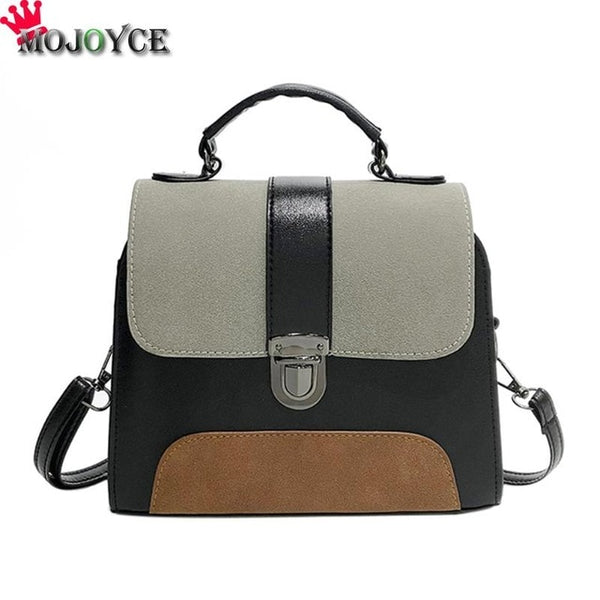 2018 MOJOYCE Casual Women PU Leather Sling Handbag Girls Crossbody Bag Patchwork Messenger Shoulder Bag Female Bolsa Feminina - Candid Lady