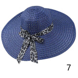 1Pcs Women Beach Hat Lady Derby Cap Wide Brim Floppy Fold Summer Sun Straw Hat - Candid Lady