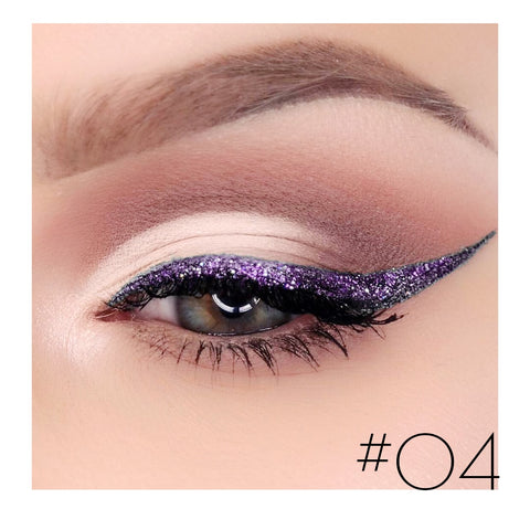 Waterproof Eye Liner Pencil Liquid Eyeliner Glitter Eye Pencil Shimmer Diamond Pigment Makeup Eyeliners Cosmetics Dropshipping