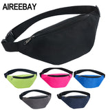 AIREEBAY Waist Bag Female Belt New Brand Fashion Waterproof Chest Handbag Unisex Fanny Pack Ladies Waist Pack Belly Bags Purse - Candid Lady