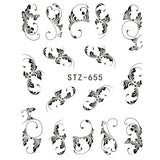 1pcs Nail Water Transfer Sticker Linear Flower Pattern Nail Art Decorations Slider For Nail Manicure Watermark Foils CHSTZ645 - Candid Lady
