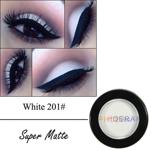 PHOERA Matte Eye Shadow 12 Colors Eyeshadow Powder Pigment Nude Long Lasting Available Makeup Water-Resistant for Autumn TSLM1