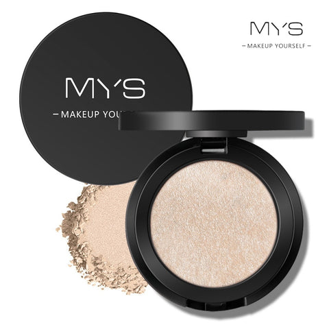 MYS brand professinal face makeup 6 color bronzer and highlighter palette powder make up glow kit highlighter contour palette