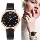 2018 Rose Gold Lvpai Brand Leather Watch Luxury Classic Wrist Watch Fashion Casual Simple Quartz Wristwatch Clock Women Watches - Candid Lady