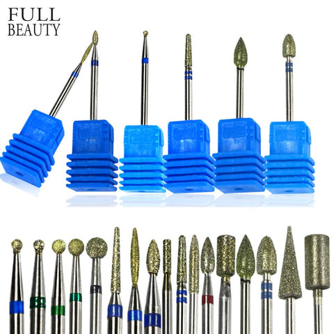 Diamond Drill Bit 17 Type 3/32'' Milling Manicure Cutter for Pedicure Electric Machine Device Tool Nail Art Burr Drill CHJG01-17