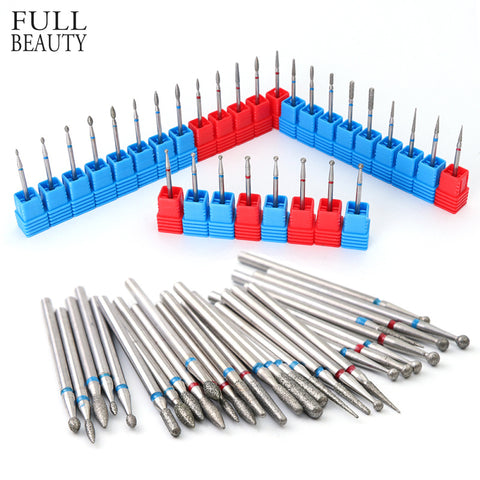 29 Types Diamond Burr Nail Drill Bits Electric Manicure Mills Cutter Rotate Nail Art Files Remover Gel Polish Tools CH01-29 - Candid Lady