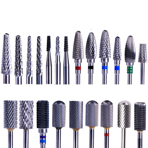 1PC Tungsten Carbide Nail Drill Bits Electric Manicure Drill Machine Accessories Dead Skin Cutter Nail File Nail Art Tool BE1-22 - Candid Lady