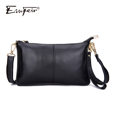 100% Genuine Leather Women Messenger Bag Famous Brand Female Shoulder Bag Envelope Clutch Bag Crossbody Bag Purse for Women 2018 - Candid Lady