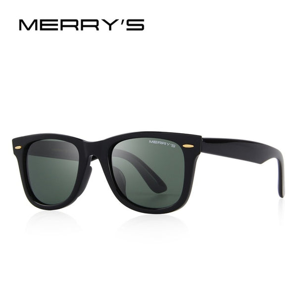 MERRYS DESIGN Men/Women Classic Retro Rivet Polarized Sunglasses 100% UV Protection S8140