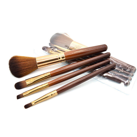 4 PCS/SET High Quality New Women Professional Makeup Brush Set Tools Comestic Toiletry Kit Brand Make Up Brush Set for Beauty - Candid Lady