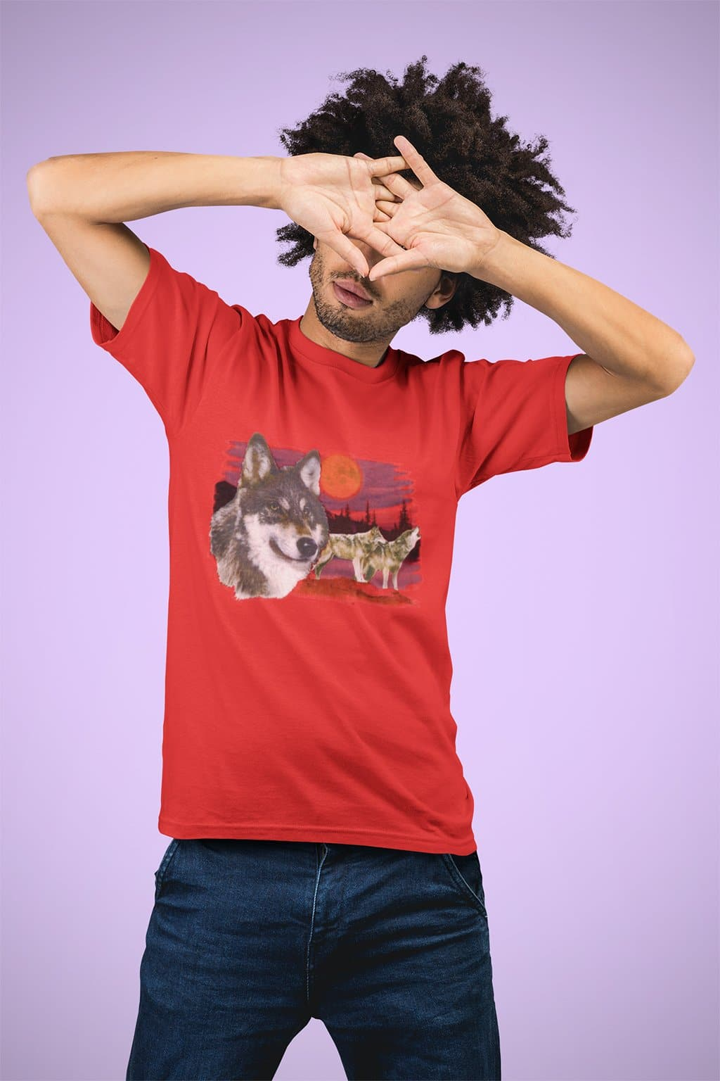 Dynamite Duds Napoleon Dynamite Wolfpack wolf t-shirt man