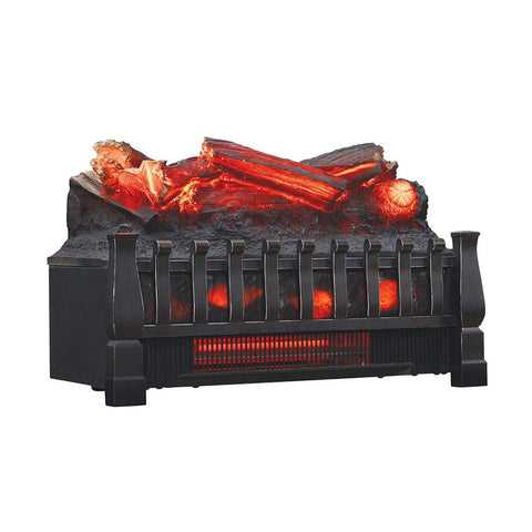 Image of Electric Log Set Heater with Realistic Ember Bed