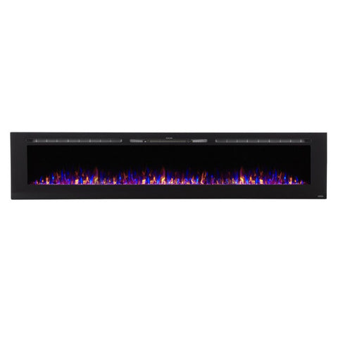 Image of Touchstone In-Wall Recessed Sideline Electric Fireplace with 5 Flame Settings & Realistic 3 Color Flame
