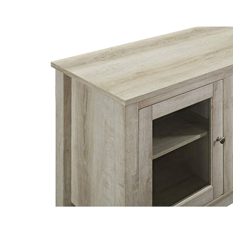 "Image of 58"" Wood Media TV Stand Console with Fireplace"