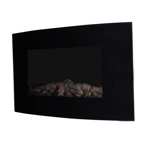 Image of Recessed Electric Fireplace With Remote Control - Black
