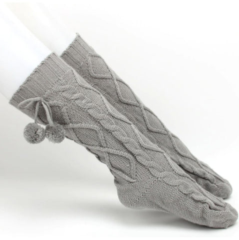 Image of Womens Long Knitted Boot Socks